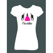 Dámské tričko - Nevěsta čertice