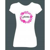 Dámské tričko - Nevěsta (květiny)