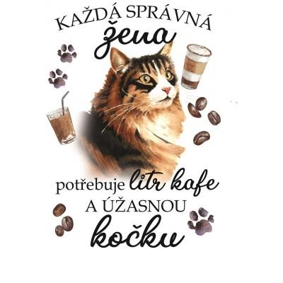 """Hrnek """"Každá správná žena potřebuje litr kafe a ÚŽASNOU KOČKU - NORSKÁ LESNÍ"""""""