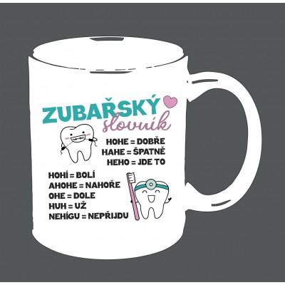 """Hrnek """"Zubařský slovník"""""""