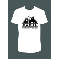 "Pánské tričko ""BACHA, chodím spát do lesa"""