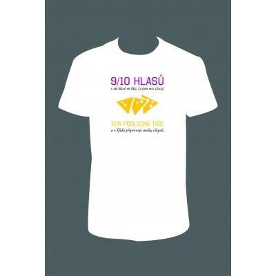 """Pánské tričko """"9/10 hlasů v mé hlavě mi říká, že jsem moc tlustý... """""""
