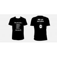 """Pánské tričko """"Celní správa - 40 let natrvdo"""""""