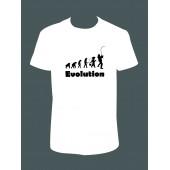 """Pánské tričko """"Evoluce rybář"""""""