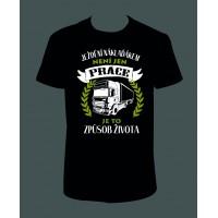 """Pánské tričko """"Ježdění náklaďákem není jen práce, je to způsob života"""""""