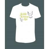 "Pánské tričko ""Ježíš Kristus žije"""