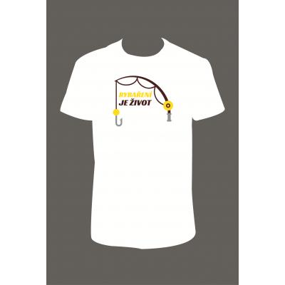 """Pánské tričko """"Rybaření je život II"""""""