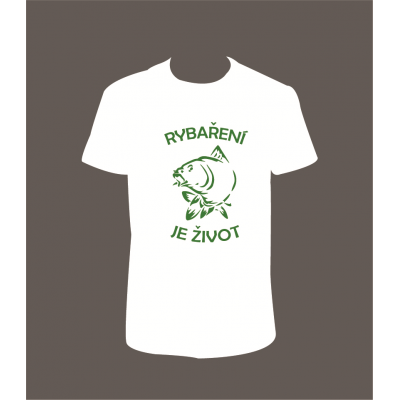 """Pánské tričko """"Rybaření je život"""""""