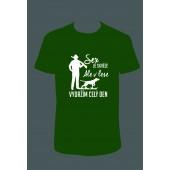"""Pánské tričko """"Sex je skvělý, ale v lese vydržím celý den"""""""