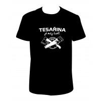 """Pánské tričko """"TESAŘINA je můj život..."""""""