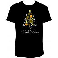 """Pánské tričko """"Veselé Vánoce - stromeček"""""""