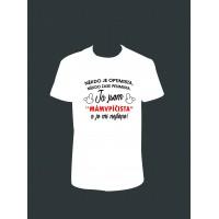 """Pánské tričko """"Já jsem 'MÁMVPÍČISTA' """""""