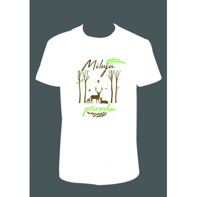 """Pánské tričko """"Miluju přírodu"""""""