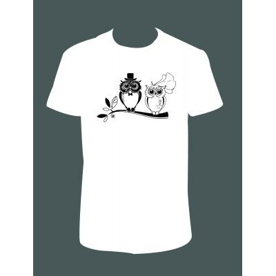 """Pánské tričko """"Svatební sova"""""""