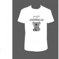 "Pánské/Dámské tričko ""Pray for AUSTRALIA - koala"""