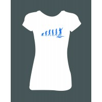 """Dámské tričko """"Evoluce vodák"""""""