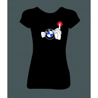 """Dámské tričko """"BMW Pssst"""""""