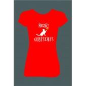 """Dámské tričko """"MEOWY CHRISTMAS"""""""