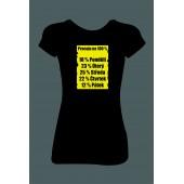 """Dámské tričko """"Pracuju na 100 procent"""""""
