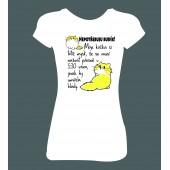 """Dámské tričko """"Nepotřebuju budík / kočka"""""""