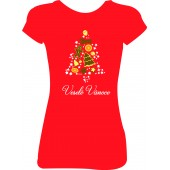 """Dámské tričko  """"Veselé Vánoce - stromeček"""""""