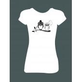 """Dámské tričko  """"Svatební sova"""""""