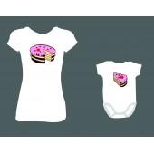 """Rodinné/dámské tričko + Body """"Dort"""""""