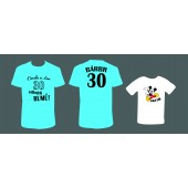 """Rodinné/pánské tričko + dětské tričko """"Dneska si dám... + Rastík"""""""