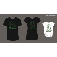 """Rodinné trička + Body """"Shrek+Fiona+Zlobřík"""""""
